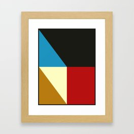Mid Century Geometric F Framed Art Print
