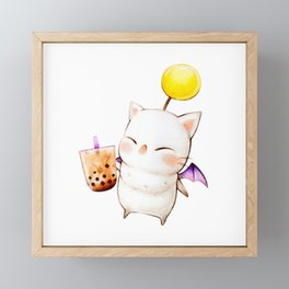 Moogle Bubble Tea Framed Mini Art Print