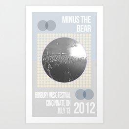 Minus The Bear Art Print