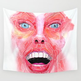 Your Expression Puzzles Me Wall Tapestry