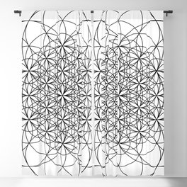 Flower of life sacred geometry Blackout Curtain