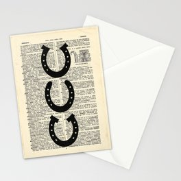 Dictionary Horseshoes Stationery Cards