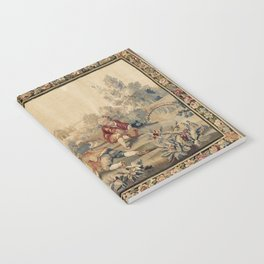 Aubusson  Antique French Tapestry Print Notebook
