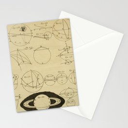 Jérôme Lalande's Astronomie (1771) - Geometric Calculations regarding Planetary Bodies 9 Stationery Cards