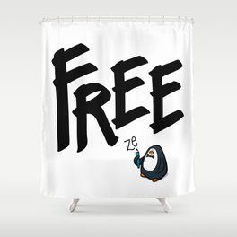 FREEze Shower Curtain