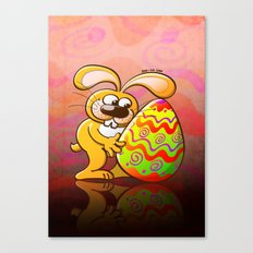 Easter Bunny Falling in Love Canvas Print