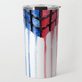 Watercolor Rubik Travel Mug