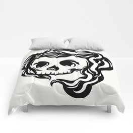 Tribal illustrated skull Comforters