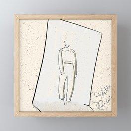 It's a mood 3 | mini fashion print | line art fashion girl Framed Mini Art Print