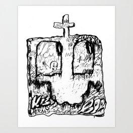 Happy Grave Art Print