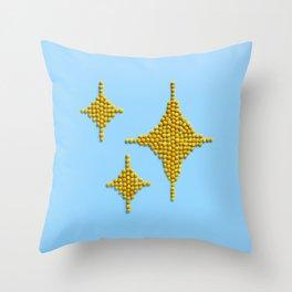 Sparkles Food Emoji Throw Pillow