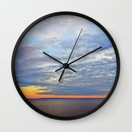 Northumberland Strait at Dusk Wall Clock