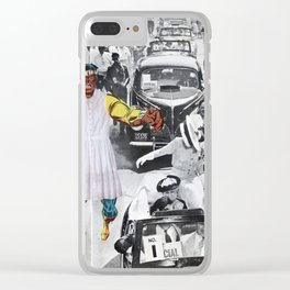Inauguration Run - Vintage Collage Clear iPhone Case