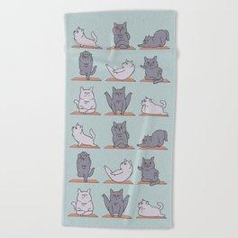 British Shorthair Cat  Yoga Beach Towel