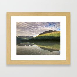 Sun on the Mountains  Framed Art Print