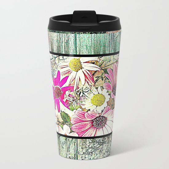 Tower of Flowers Metal Travel Mug