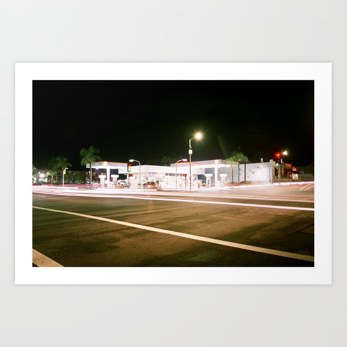 The Gas Station Art Print