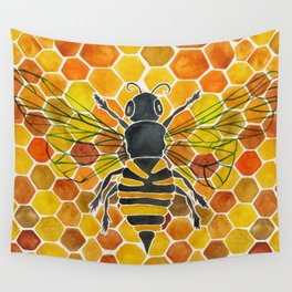 Bee & Honeycomb Wall Tapestry