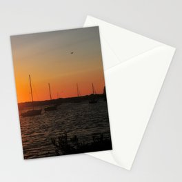 A Morro Bay Sunset At The Rock Stationery Cards