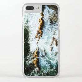 OCEAN - SEA - WATER - ROCKS - PHOTOGRAPHY Clear iPhone Case