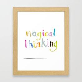 magical thinking watercolor Framed Art Print