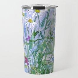 Meadow flowers - watercolor painting Travel Mug