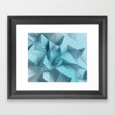 Geometric Blue Mind #society6 Framed Art Print