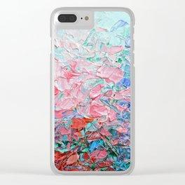 Hydrangea Garden Clear iPhone Case