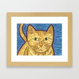 Orange Tabby Cat Framed Art Print