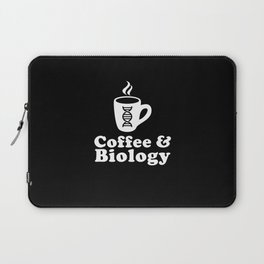 Coffee and Biology Laptop Sleeve