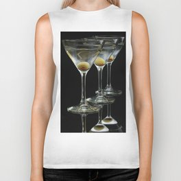Three Martini's and three olives.  Biker Tank