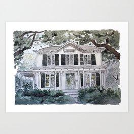 Dearing Street House Art Print