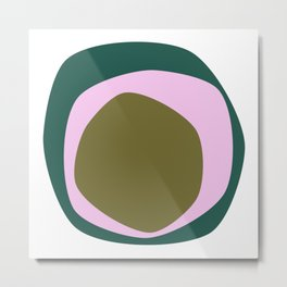Organic circles Metal Print