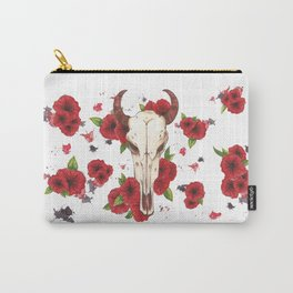 Bull and petunia Carry-All Pouch