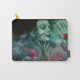 """Sirena between pastel cactus flowers"" Carry-All Pouch"