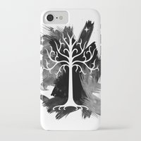 gondor iPhone & iPod Cases featuring White Tree Of Gondor by Icarusdie