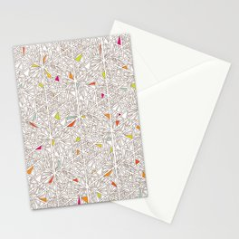 Little Triangles Pattern Stationery Cards