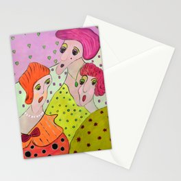 Here Come The Girls Stationery Cards