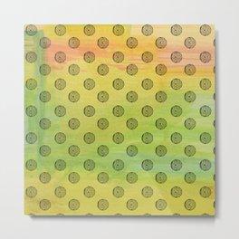eye ball 3 . yellow Metal Print