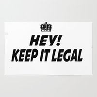 lawyer Area & Throw Rugs featuring Keep It Legal by ThreeWords