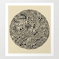mandala Art Prints featuring Mandala by Marcelo Romero