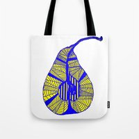 pear Tote Bags featuring Pear by Bonnie J. Breedlove