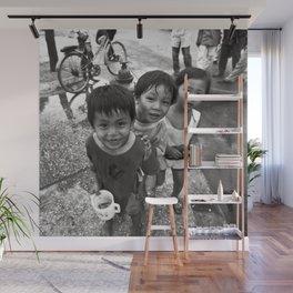 Vietnamese Children with a goldfish  Wall Mural