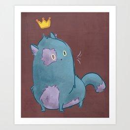 Royal Kitty Art Print