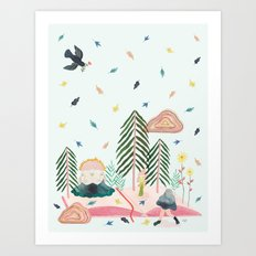 Mycomorphic world Art Print