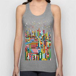 Flagscapes: World Cityscape Unisex Tank Top