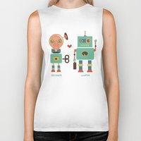 lawyer Biker Tanks featuring Robotic Love by akaink