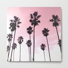 Palms & Sunset Metal Print