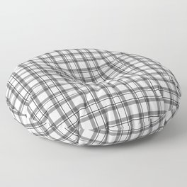 Black and white checkered pattern 2 Floor Pillow