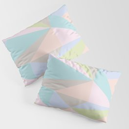 Pastel Triangles Pillow Sham